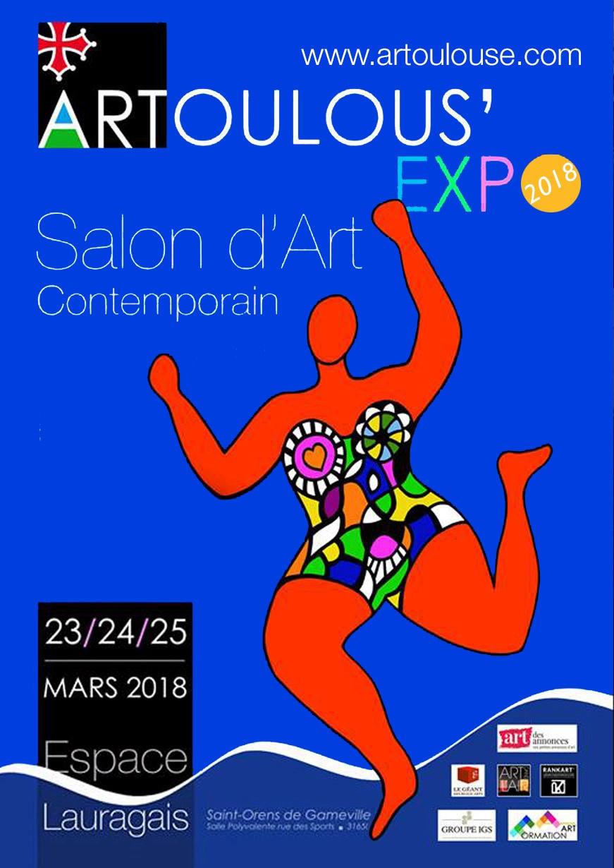 venez me retrouver sur mon stand à ARTOULOUS'EXPO les 23 24 25 mars 2018